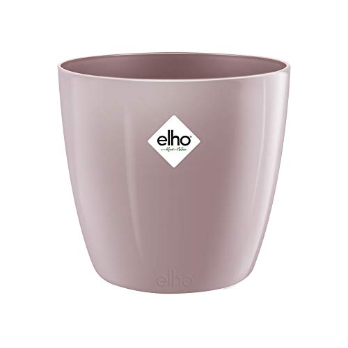 Elho Brussels Diamond Round 16 - Flowerpot - Shimmering Lilac - Indoor - Ø 15.9 x H 14.6 cm