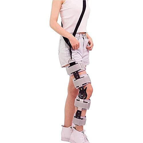 Rodillera ortopédica articulada con bisagras ajustable de la rodilla de la férula ROM de la rodilla ortesis inmovilizador estabilizador post-operatorio artritis ligamento protector de lesiones