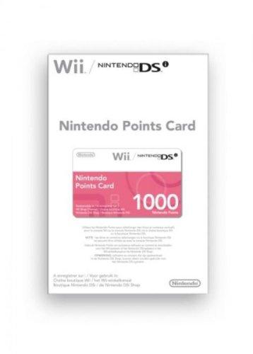 Carte à points Nintendo (1000 points) pour wii et dsi