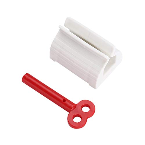 Rusaly Rolling Tube Zahnpasta Squeezer Tubenquetscher Tubenausdrücker, Squeezer Tubenpresse Zahnpastaspender Quetscher Tubenpresse Set für Zahnpasta Haarfarbe Farben Kosmetik (1Stück-Rot)