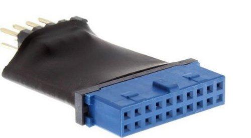 InLine 33449L USB 3.0 zu 2.0 Adapter intern, USB 3.0 19pin auf USB 2.0 Pfostenstecker intern