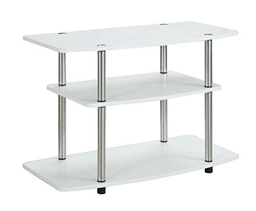 Convenience Concepts Designs2Go 3 Tier TV Stand, White