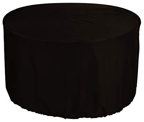 KaufPirat Premium afdekzeil rond Ø 120x80 cm tuinmeubelen tuintafel afdekking beschermhoes afdekhoes outdoor rond patio tafel cover zwart