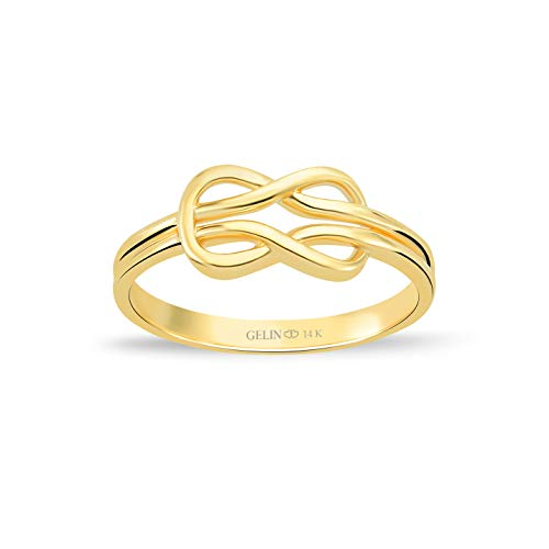 GELIN Celtic Knot Stacking Ring in 14k Solid Gold | Anniversary Ring for Women | Promise Ring for Her - Size 5