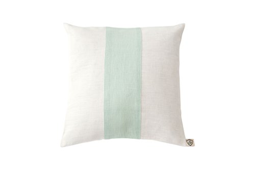 paula & ferdinand Kissen Leinen white, Big Stripe Leinen mint, Format 35x35 cm