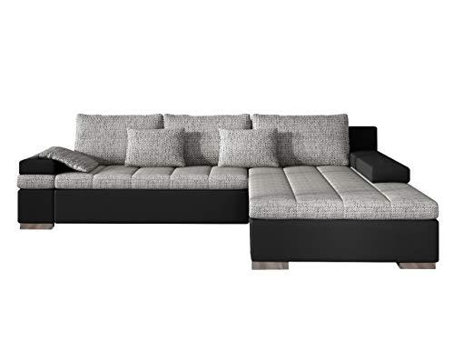 Mirjan24 Design Ecksofa Bangkok, Moderne Eckcouch mit Schlaffunktion und Bettkasten, Ecksofa für Wohnzimmer, Gästezimmer, Couch L-Form, Wohnlandschaft, (Ecksofa Rechts, Soft 011 + Lawa 05)