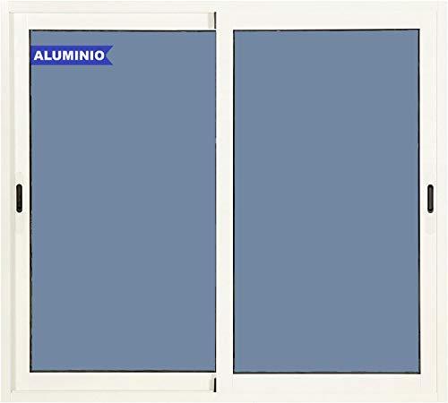 Ventana Aluminio Corredera 1000 ancho x 1000 alto 2 hojas