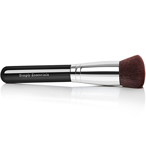 BEST ROUND KABUKI MAKEUP BRUSH for Liquid, Cream Mineral, & Powder Foundation & Face Cosmetics - Prime Quality Design - Carrying Case & E-Book Included