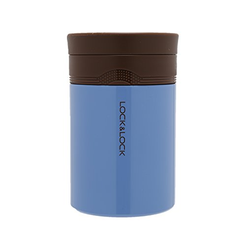 LOCK & LOCK Thermobehälter für Essen & Suppe - NEW WAVE FOOD JAR - Isolierbehälter Edelstahl für Speisen - Thermo Speisebehälter f. unterwegs, 500ml in Blau