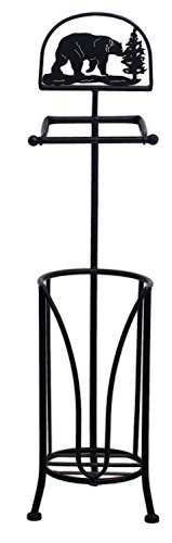 Top 10 best selling list for mayrich 29 metal black bear toilet paper holder stand