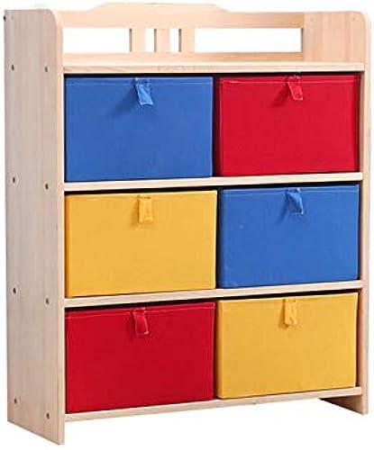 Bücherregale CJC Spielzeug Lager Einheit 3 Stufen H ern Gestell 6 Faltbar Mehrfarbig Boxen Ger Kinder Kinder Zimmer