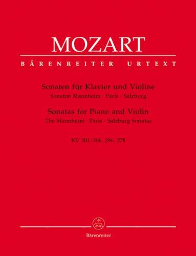 Sonaten für Klavier und Violine -Sonaten Mannheim - Paris - Salzburg-