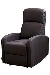 Astan Hogar Confort Plus Sillón Relax con Reclinación Manual, Tela, Chocolate, Compacto