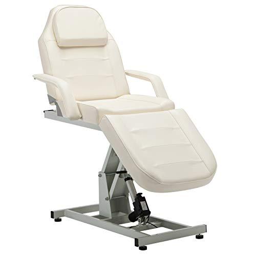BarberPub Salon SPA Massage Bed Tattoo Chair Facial Adjustable Table Beauty Equipment 0100 (White)