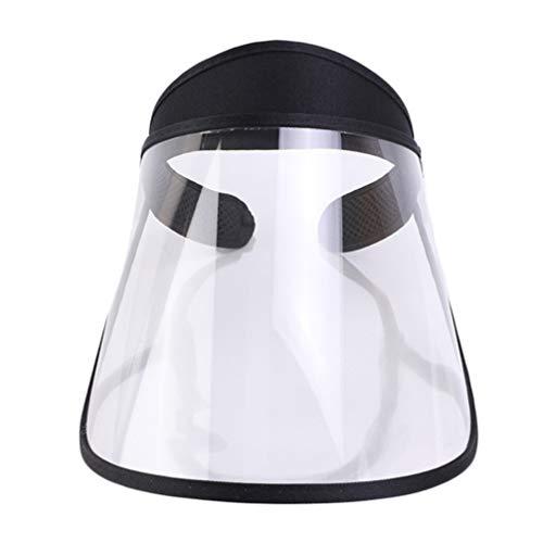 Exceart Sicherheitsgesichtsschutz Speichelschutz Anti-Spritzschutz Gesichtsschutz Winddichte Außenschutzkappe Gesichtsabdeckung für Staubdichten Außenschutz (Weiß)