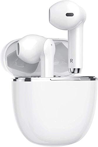 Auriculares Inalámbricos Bluetooth 5.0, Auriculares Bluetooth Deportivos IPX5 Impermeable, In-Ear Cascos Bluetooth Inalámbricos con Microfono Dual y Caja de Carga para Android/Samsung/Huawei/Airpods