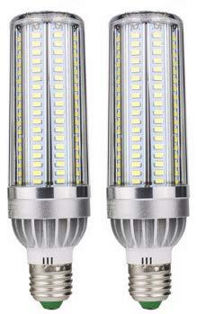 Bulbright 2Pezzi LED Mais lampadine 25W Attacco E27, Bianco Caldo 3000K, 2500Lumen, Equivalente a 200W, 85-265V AC (3000K-Bianco Caldo, 25W)