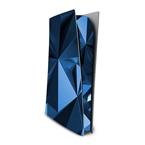 RX023 - Adhesivo decorativo para carcasa de videojuegos, lámina protectora de vinilo contra arañazos, ajuste perfecto, autoadhesivo (edición digital, n.º 4, color azul poligonal)