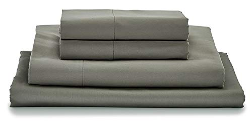 MyPillow Bed Sheet Set 100% Certified Giza Egyptian Long Staple Cotton (King, Dark Gray)