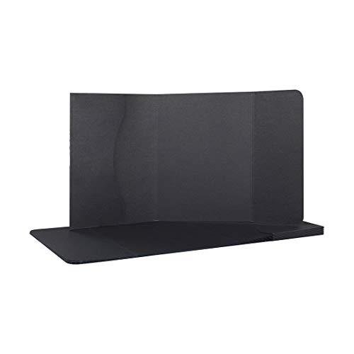 Fotomappe 15 x 21 cm, 3 mm Rückenstärke, Sammelmappe für Fotos, Dokumente bis 13 x 19 cm, Schwarz, Premiumkarton, unbedruck - 10er Pack
