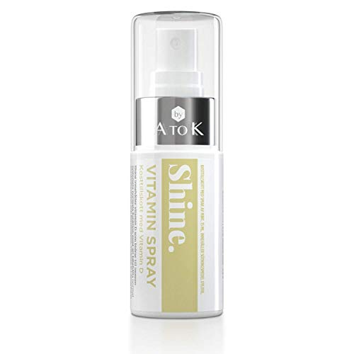 New! Shine Vitamin D Oral Spray   Fresh Mint Taste   30 Daily doses   20 µg   Sugar Free   High Absorption Capacity   Smart, Easy and Effective   A Product from A to K.
