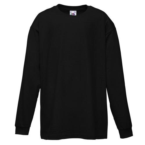 Fruit of the Loom - Camiseta para niña Negro 3-4 Años