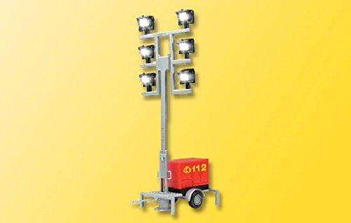Viessmann 5144 - H0 Leuchtgiraffe 'Feuerwehr' auf Anhänger mit LEDs