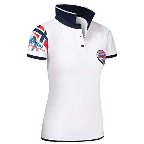 Nebulus Poloshirt Paras Damen, weiß-Navy - XXL (44)