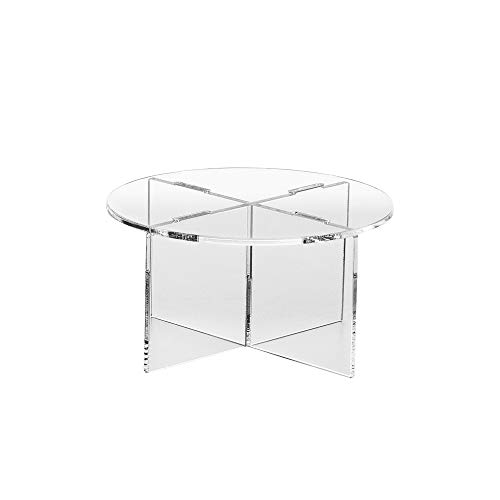 Clear Choice, Acrylic Round disassemble Riser Display Stand | Multipurpose Tabletop Risers for Displaying Personal or Business Decor, Cupcakes | Clear, Stable (4'' H X 8'' D)