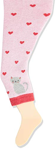 Sterntaler Baby-Girls Leggins Katze Leggings, rosa Mel, 104