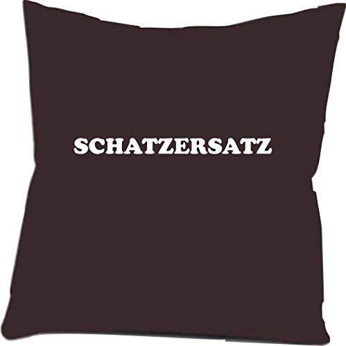 Shirtinstyle Zierkissenbezug SCHATZERSATZ ideal für jeden Sofaabend, Farbe schwarz