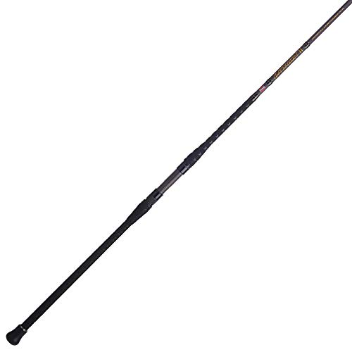 PENN Fishing Squadron III Surf Spinning Fishing Rod, Titanium/Red/Gold, 11' - Medium Heavy - 2pc (SQDSFIII1530S11)