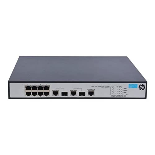 Hewlett Packard Enterprise 1910-8 -PoE+ Gestito Fast Ethernet (10/100) Nero Supporto Power over Ethernet (PoE)