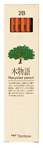 Tombow LA-KEA-2B Hochwertiger, recycelter Bleistift Härtegrad 2B, 12-er Set