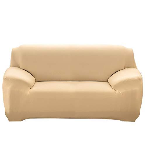 NIBESSER Funda de sofá elástica impermeable fundas de sofá de poliéster fundas de poliéster jacquard elástico fundas antideslizantes 2 plazas adecuadas para todos los tipos de sofás