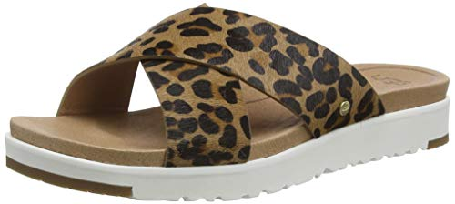 UGG Australia Damen Kari Leopard Schiebe-Sandalen, hautfarben, 39 EU