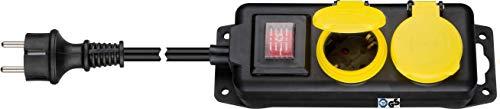 Kab24® Regleta para jardín, enchufe múltiple, con certificado TÜV, alargador IP44, protección...