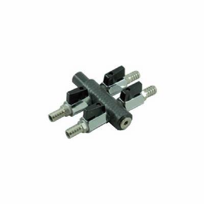 AquaForte Luftverteiler, Heavy Duty, 8-Wege, 9 mm, grau