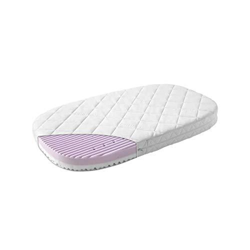 Leander Träumeland Comfort +7 - Colchón de espuma fría para cuna o cama de bebé ovalada