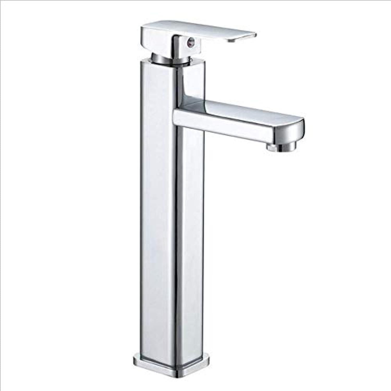 Moderner Hahn-Badezimmer-Hahn-kalter Wasser-Hahn über Gegenbassin-Mischwasser-Badezimmer-Waschbecken-Hahn