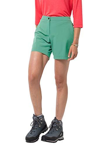 Jack Wolfskin Shorts-1505981 - Pantaloncini da Donna, Donna, 1505981, Pacific Green, M