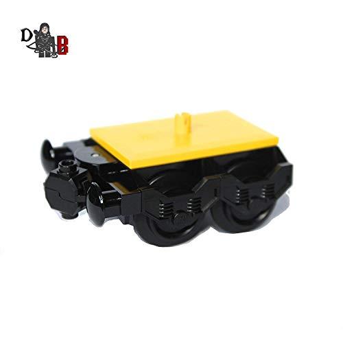 LEGO individuell Stadt Zug motor bogey 2 mit puffer & räder für wagen 60051
