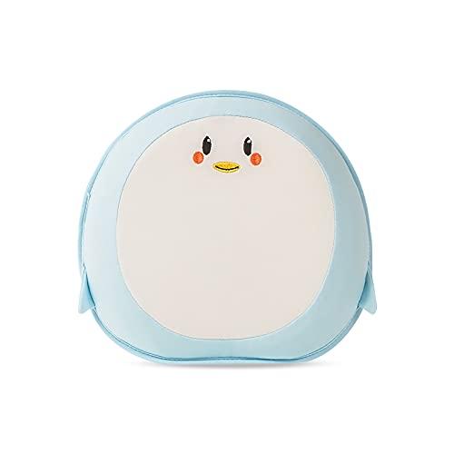 SONARIN Nuevo Almohada para Bebe plagiocefalia,100% Algodón, Fundas de Almohada extraíbles,Memory Foam,Prevención de Cabeza Plana Almohada Suave para niños pequeños,bebés de 0 a 12 Meses(Pingüino)