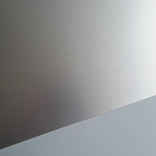 Preisvergleich Produktbild 1x Aluminium Blech eloxiert 1500x500x1, 0mm Alublech,  E6 / EV1 eloxiert,  einseitig mit Schutzfolie