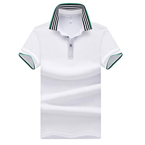 CICIYONER Poloshirts Herren Polo Shirt Kurzarm mit Polokragen Casual Euro-American Style Patchwork Revers Kurzarm T-Shirt Tops