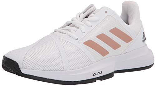 adidas mens Courtjam Bounce Tennis Shoe, White/Copper/Black, 6.5 US