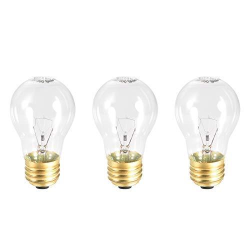 3 Stück A15 E26 Ersatzlampen für die Mikrowelle für die meisten Ge-Öfen, Ersatz für die Basis E26-40 W/AC 110 – 120 V, warmes Licht