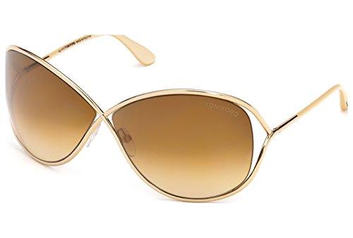 Tom Ford Sunglasses - Miranda / Frame: Shiny Rose Gold Lens: Brown Gradient
