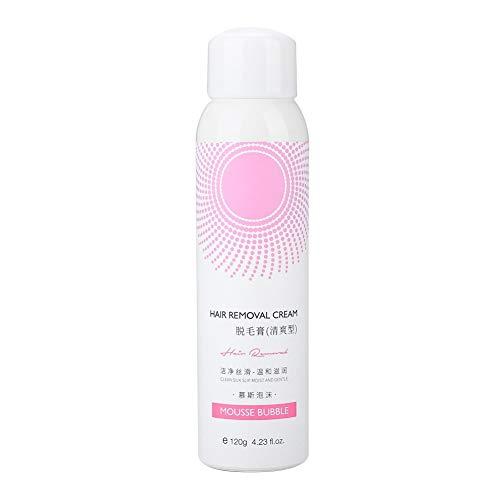 dgtrhted Mousse Espuma Depilación Spray de del Pelo del Cuerpo Crema depilatoria Pierna axila 120g