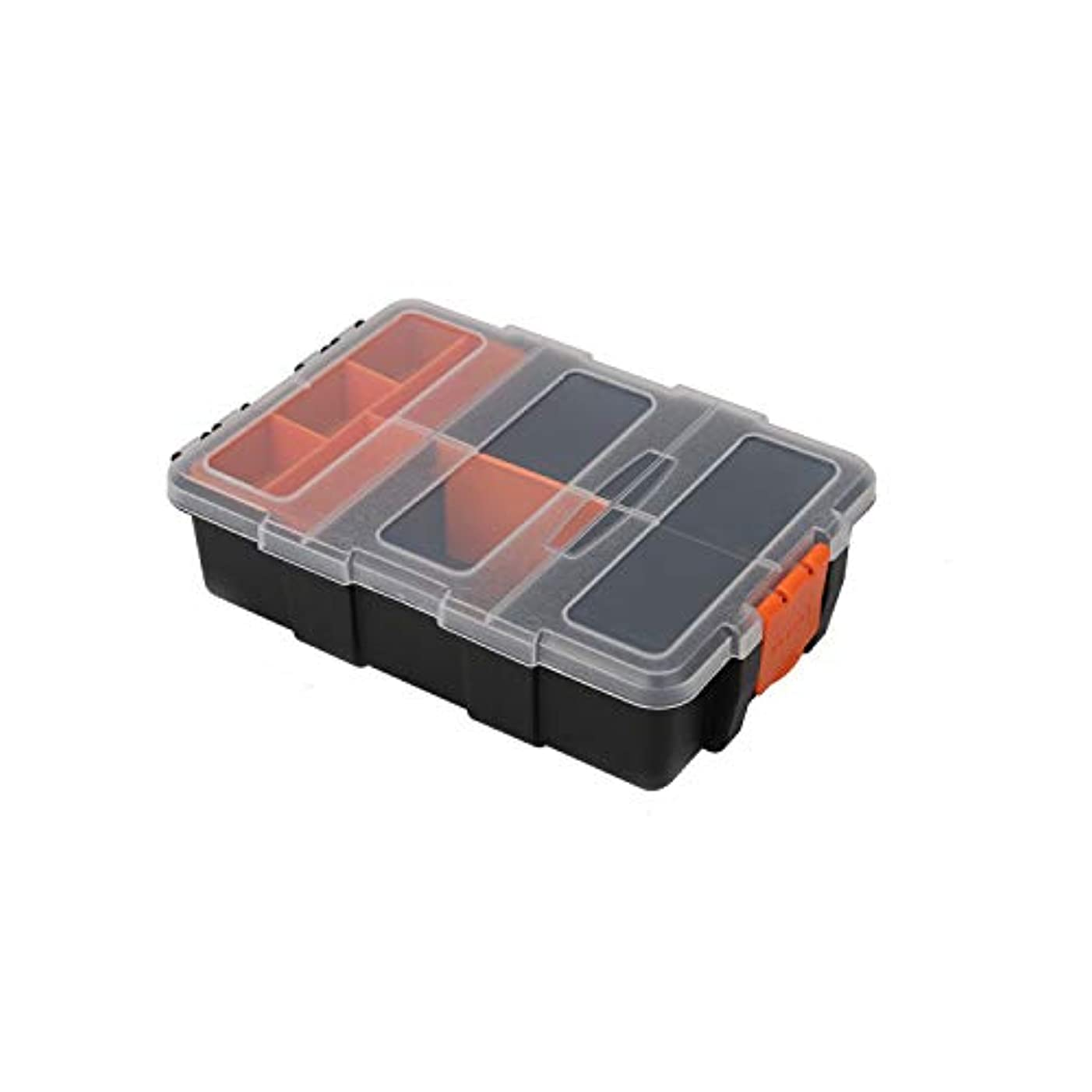 HRDiDiu Plastic Storage Box Containers with Clear Lid for Craft,Tool,Parts,Fishing,Hardware,Screws,Nuts,Bolts,Beads,Jewelry,Small Accessories,Organizer with 11 Compartments